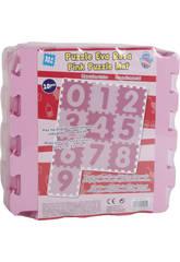 Set Eva numeros 0-9 color rosa