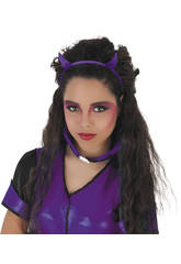 Diadema de Diablesa Glitter Púrpura Rubies S4356