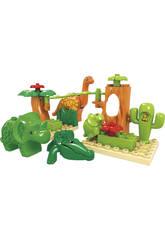 Cubo Blocchi Costruzioni Dinosauri 17 pezzi