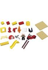 Seau Blocs Construction Pompiers 31 pièces