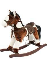 Cavallo a Dondolo Marrone/Bianco Con Suoni 46 Cm