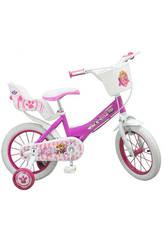 Bicicleta Paw Patrulla Canina 14 Sillita y Cesta