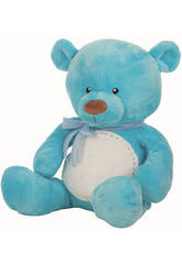 Peluche Ours Coutures 33 cm.