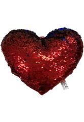 Coussin Coeur avec des Paillettes 30 cm Llopis 18171