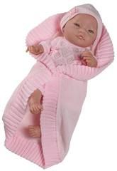 Bambola Bebita Europea Rosa 45 cm. Paola Reina 5173