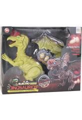 Geflügelter Dinosaurier 32 cm. Laufstuhl mit Licht, Ton und 3 Eiern