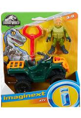 Jurassic World Imaginext Figura Base con Veicolo Mattel FMX92