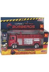 Camión de Bomberos de Metal de 12 cm.