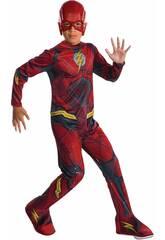 Disfarce de Crianças Flash Liga da Justiça Tamanho S Rubies 630861-S