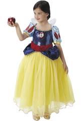 Déguisement Enfant fille Blnche-neiges Premium Taille M Rubies 620482