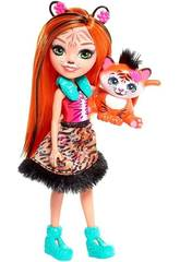 Enchantimals Tanzie Puppe & Tiger Haustier Mattel FRH39