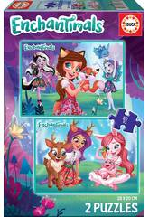 Puzzle 2x48 Enchantimals Educa 17933