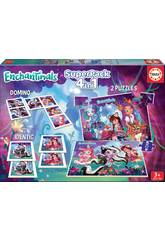 Superpack Enchantimals 4 in 1 Educa 17935