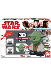 Puzzle Couleur 3D Sculpture Yoda Educa 17801