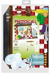 Cadre photocall cuisinier avec des accessoires Globolandia 5334