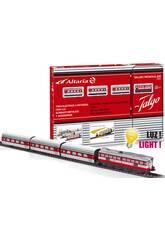 Train Électrique Articulé à Locomotive Rouge de Pequetren 505