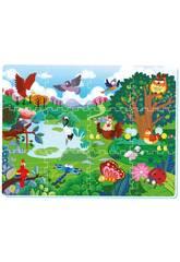 Manta Floresta Puzzle Eva 12 peças