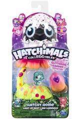 Hatchimals Maison Nid avec Lumière Jardin Brillant Bizak 6192 9131