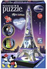 Puzzle 3D Disney Classics Tour Eiffel Puzzle Night Edition, Ravensburger 12520