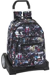 Mochila con Carro Evolution Blackfit8 Urban Safta 641841861