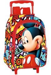 Mochila con Ruedas Infantil Mickey OK Perona 55657