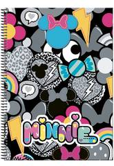 Quaderno a Spirale A4 100 Copertina Rigida Minnie Patch Perona 55455