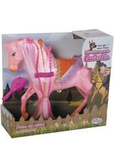 Cavallo 29 cm. Trecce colorate e pettine