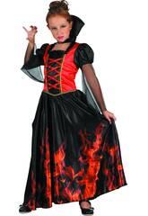 Disfraz Niña Vampiresa Fuego Talla L