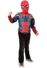Costume Bimbo Iron Spider Deluxe Maglietta e Maschera Rubies 34184