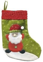 Chaussette Santa Claus Deluxe 25 cm. Rubies S2509