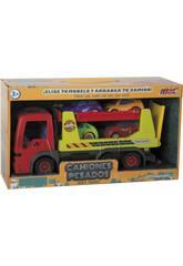 Camion à Friction 32 cm avec 4 Véhicules 8 cm