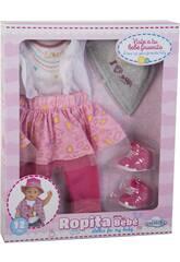 Kleid Puppe 43-46 cm. mit Zubehör 6 Stück Liebe