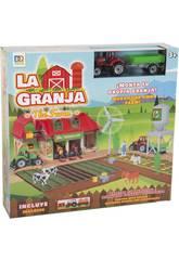 La Ferme avec Figurines, Tracteur avec Remorque et Accessoires