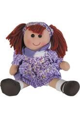 Muñeca Trapo Vestido Lila 50 cm.