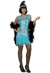 Déguisement Femme L Charleston Turquoise