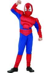 Disfraz Héroe Araña Musculoso Niño Talla XL