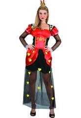 Disfraz Reina de Corazones Mujer Talla M