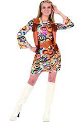 Disfraz hippie Mujer Talla M