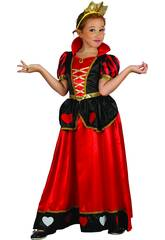 Disfraz Reina de Corazones Niña Talla M