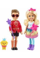 Barbie Dreamtopia Pacote Chelsea y Otto Mattel FRB14