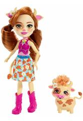 Enchantimals Cailey Cow et Curdle Mattel FXM77