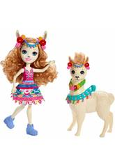 Enchantimals Lluella Lhama y Fleecy Mattel FRH42