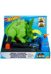 Hot Wheels City Ataque del Triceratops Mattel GBF97