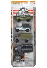 Jurassic World Pack 5 Vehículos Die Cast Mattel FMX40