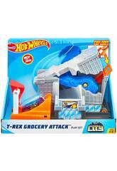 Hot Wheels City T-Rex Attaque de la Ville Mattel GBF92
