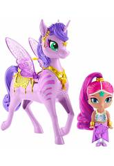 Shimmer and Shine Pack Shimmer y Zahracornio Mágico Volador Mattel GCM01