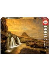 Puzzle 1.000 Cascata Kirkjufellsfoss Islandia Educa 17971