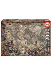 Puzzle 2.000 Mappa Dei Pirati Educa 18008