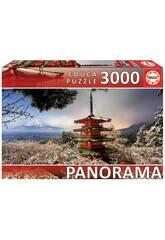 Puzzle 3.000 Monte Fuji y Pagoda Chureito Japón Educa 18013
