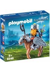 Playmobil Zwerg und Pony mit Rüstung 9345
